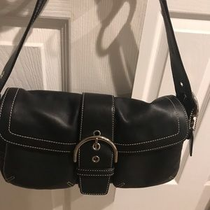 COACH LIKE NEW BLACK LEATHER